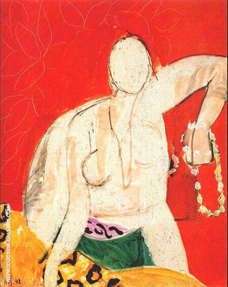 Woman with a Necklace 1942 By Henri Matisse