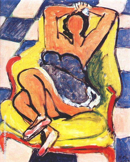 Dancer in Repose 1942 Painting By Henri Matisse - Reproduction Gallery