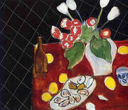 Tulips and Oysters on a Black Background 1943 By Henri Matisse