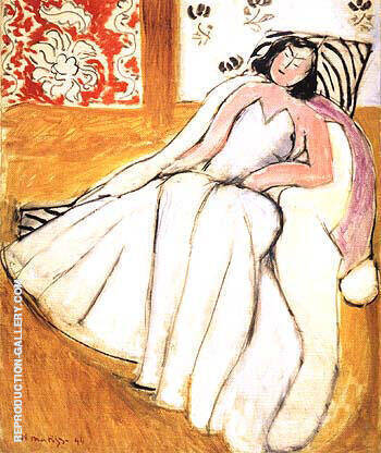 Reproduction of Young Woman with White Fur Coat 1944 by Henri Matisse | Oil Painting Replica On CanvasReproduction Gallery