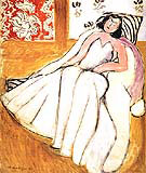 Young Woman with White Fur Coat 1944 By Henri Matisse