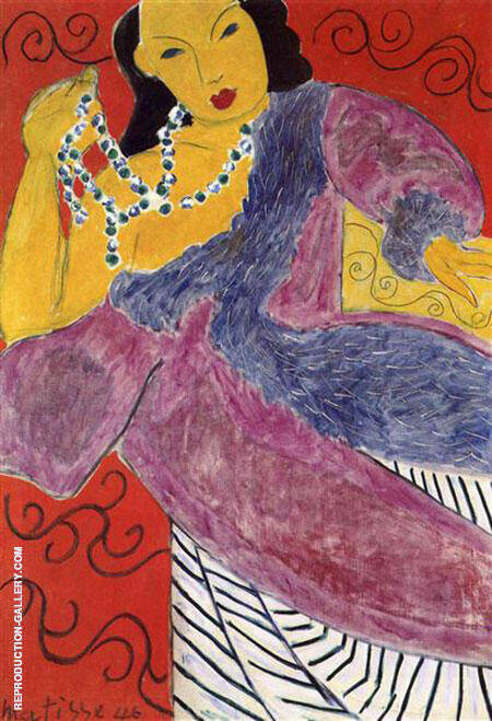 Asia 1946 By Henri Matisse Replica Paintings on Canvas - Reproduction Gallery
