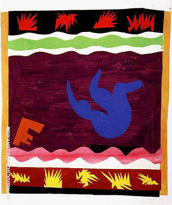 Toboggan 1947 By Henri Matisse - Oil Paintings & Art Reproductions - Reproduction Gallery