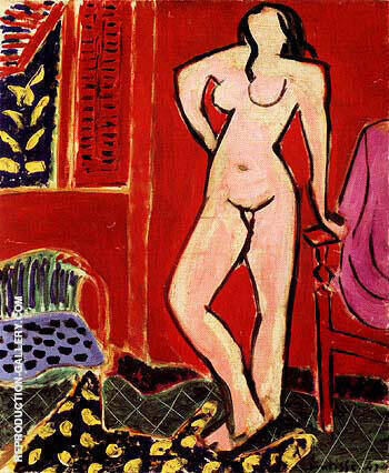 Standing Nude 1947 By Henri Matisse Replica Paintings on Canvas - Reproduction Gallery
