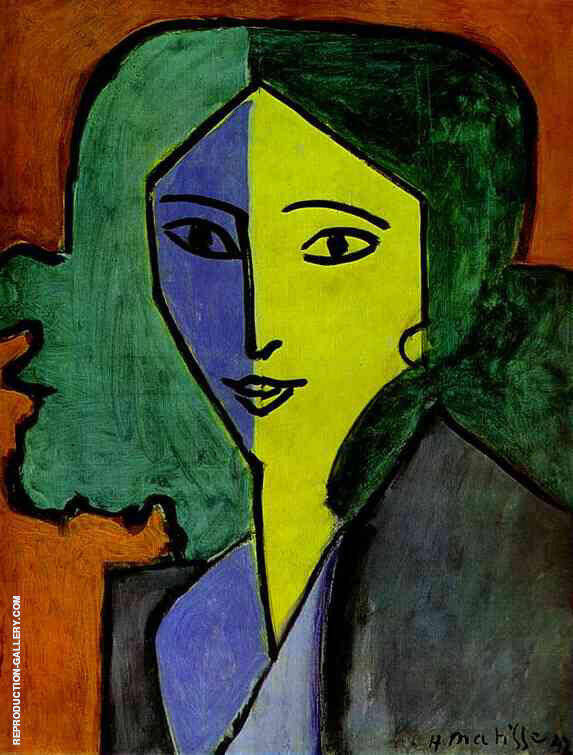 Portrait of Lydia Delectorskaya 1947 By Henri Matisse Replica Paintings on Canvas - Reproduction Gallery