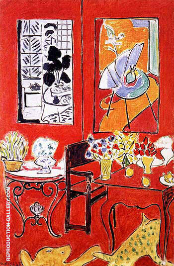 Large Red Interior 1948 Painting By Henri Matisse - Reproduction Gallery