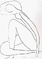 Sketch for the Blue Nude 1952 By Henri Matisse