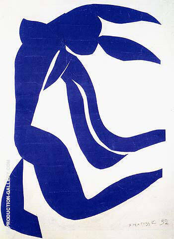 The Flowing Hair 1952 By Henri Matisse Replica Paintings on Canvas - Reproduction Gallery