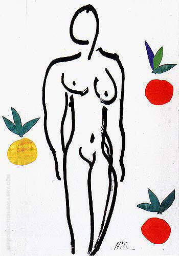 Nude with Oranges 1952 By Henri Matisse - Oil Paintings & Art Reproductions - Reproduction Gallery