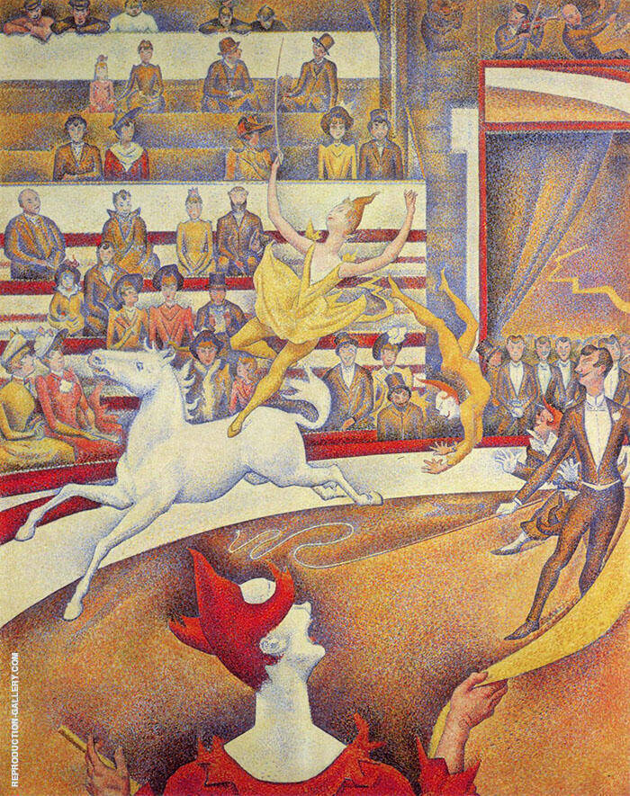 The Circus 1890 Painting By Georges Seurat - Reproduction Gallery