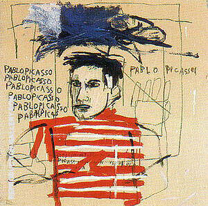 Picasso Special Commission By Jean-Michel-Basquiat Replica Paintings on Canvas - Reproduction Gallery