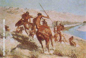 Episode 1 of the Buffalo Gun Painting By Frederic Remington