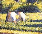Farm Woman at Work (Paysannes au travail) By Georges Seurat