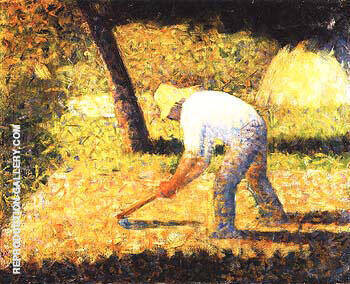 Peasant with a Hoe 1882 By Georges Seurat - Oil Paintings & Art Reproductions - Reproduction Gallery