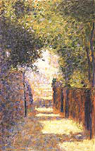 Rue St Vincent Montmartre in Spring 1884 By Georges Seurat