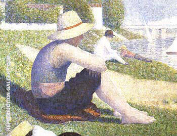 Bathers at Asnieres [detail] 1883 By Georges Seurat - Oil Paintings & Art Reproductions - Reproduction Gallery