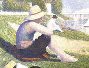 Bathers at Asnieres [detail] 1883 By Georges Seurat