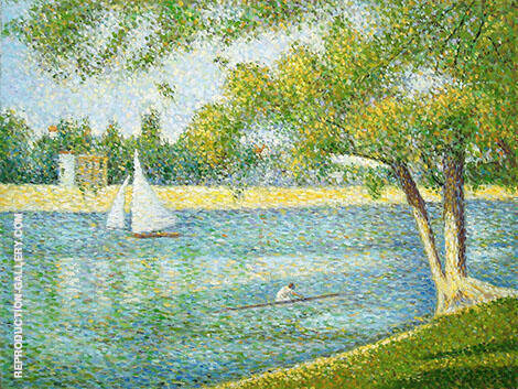 The Seine at La Grande Jatte Spring 1887 Painting By Georges Seurat