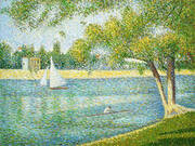 The Seine at La Grande Jatte Spring 1887 By Georges Seurat