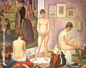 Reproduction of Les Poseuses 1886 by Georges Seurat | Oil Painting Replica On CanvasReproduction Gallery