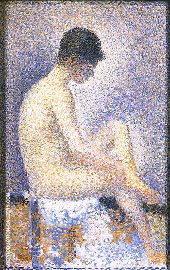 Seated Model Side View 1887 Painting By Georges Seurat