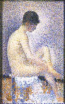 Seated Model Side View 1887 By Georges Seurat