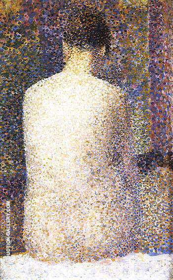 Model Rear View 1887 By Georges Seurat - Oil Paintings & Art Reproductions - Reproduction Gallery