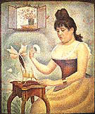Young Woman Powdering Herself 1888 By Georges Seurat