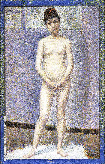 Standing Model 1887 By Georges Seurat