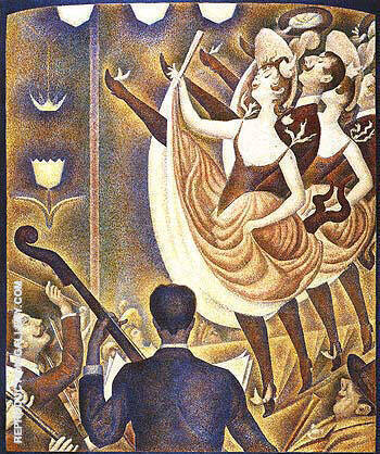 Le Chahut 1889 Painting By Georges Seurat - Reproduction Gallery