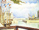 Port en Bessin Sunday 1888 By Georges Seurat