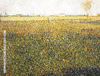 Alfalfa La Lucerne Saint Denis 1884 By Georges Seurat - Oil Paintings & Art Reproductions - Reproduction Gallery