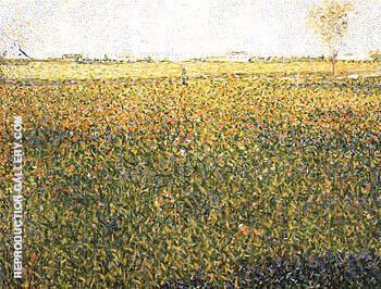 Alfalfa La Lucerne Saint Denis 1884 By Georges Seurat