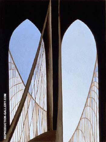 Reproduction of Brooklyn Bridge 1949 by Georgia O'Keeffe | Oil Painting Replica On CanvasReproduction Gallery