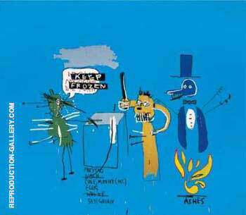 Dingoes in the Park Painting By Jean-Michel-Basquiat