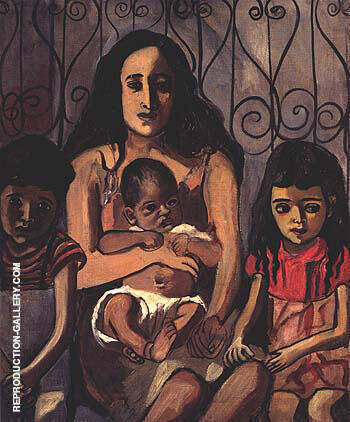 The Spanish Family 1943 By Alice Neel Replica Paintings on Canvas - Reproduction Gallery