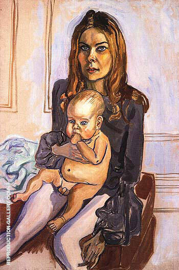 Betty Homitzky and Jevin By Alice Neel Replica Paintings on Canvas - Reproduction Gallery
