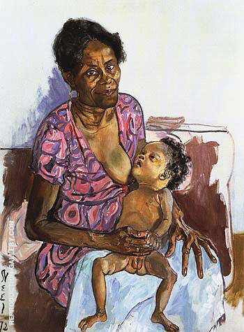 Carman and Judy 1972 By Alice Neel Replica Paintings on Canvas - Reproduction Gallery