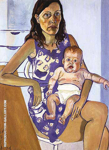 Nancy and Victosia 1974 By Alice Neel Replica Paintings on Canvas - Reproduction Gallery