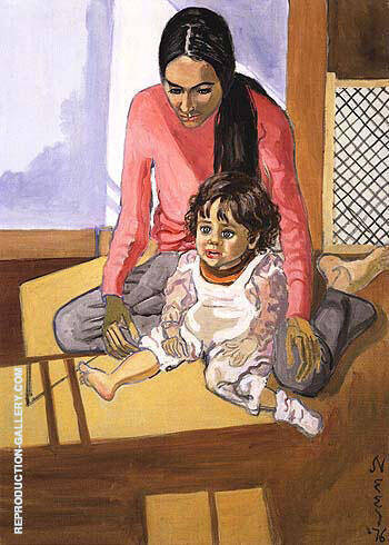 Ginny and Elizabeth II 1976 By Alice Neel Replica Paintings on Canvas - Reproduction Gallery