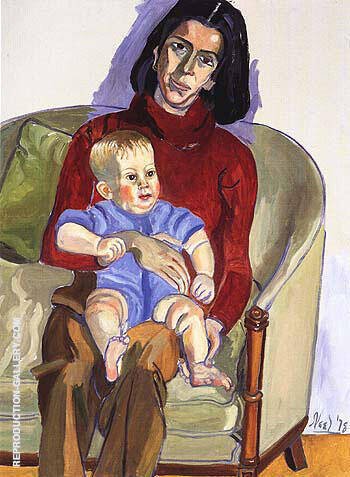 Ann Sutherland Harris and Neil 1978 By Alice Neel