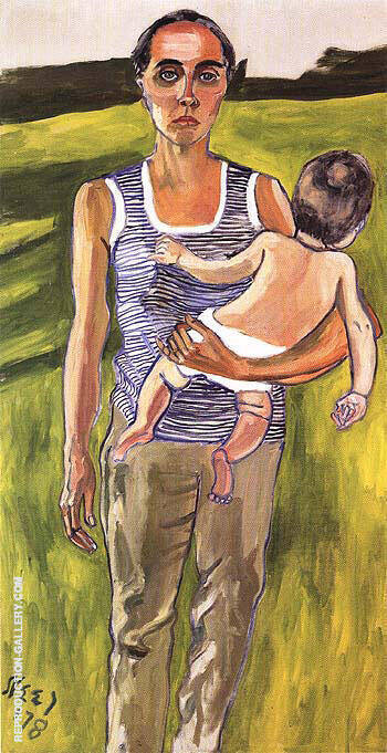 Ginny and Andrew 1978 Painting By Alice Neel - Reproduction Gallery