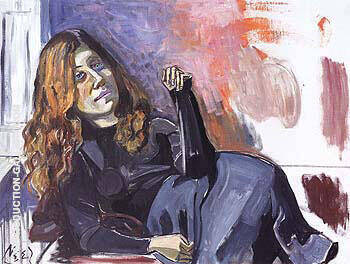 Suzanne Moss 1962 By Alice Neel Replica Paintings on Canvas - Reproduction Gallery