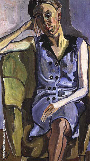 Eka 1964 Painting By Alice Neel - Reproduction Gallery