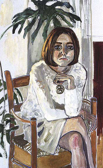 Julie Hall 1964 Painting By Alice Neel - Reproduction Gallery