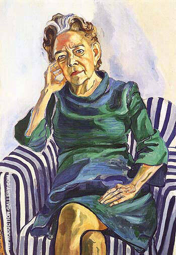 Helen Merrell Lynd 1969 Painting By Alice Neel - Reproduction Gallery