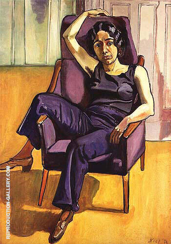 Marxist Girl lrene Peslikis 1972 Painting By Alice Neel