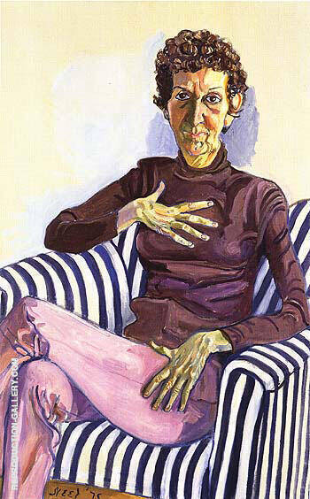 Dorothy Gillespie 1975 Painting By Alice Neel - Reproduction Gallery