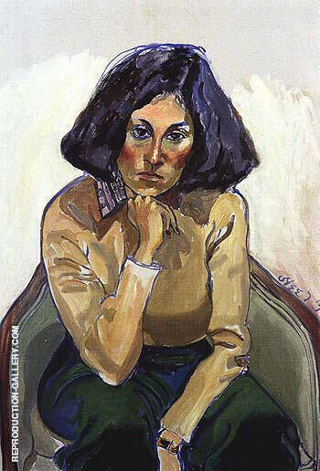 Marilyn Farber 1977 By Alice Neel Replica Paintings on Canvas - Reproduction Gallery