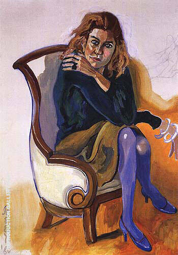 Toni Schulman 1980 Painting By Alice Neel - Reproduction Gallery